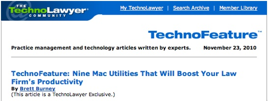Nine Mac Utilities That Will Boost Your Law Firm's Productivity