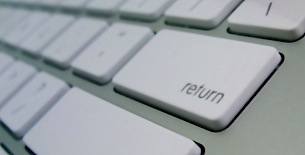 Return key on a Mac keyboard