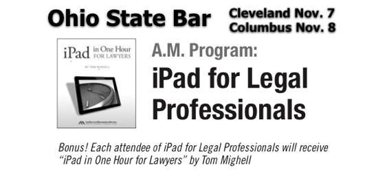 Brett Burney Ohio State Bar iPad Legal Professionals