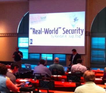 Randy Juip MILOfest 2011 Real-World Security