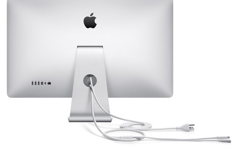 Back of Apple Thunderbolt Display with Port