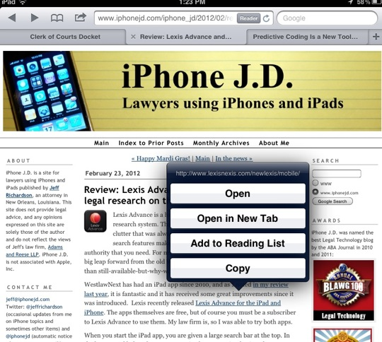 Open in a New Tab-10 Tips for Using Mobile Safari on an iPad