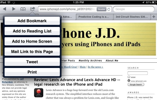 Add to Reading List-10 Tips for Using Mobile Safari on an iPad
