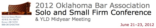 Oklahoma Bar Association Solo and Small Firm Conference with Brett Burney