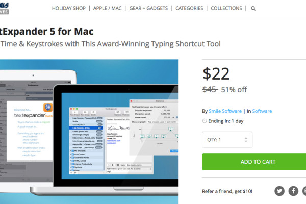 Mac App Deals TextExpander 5