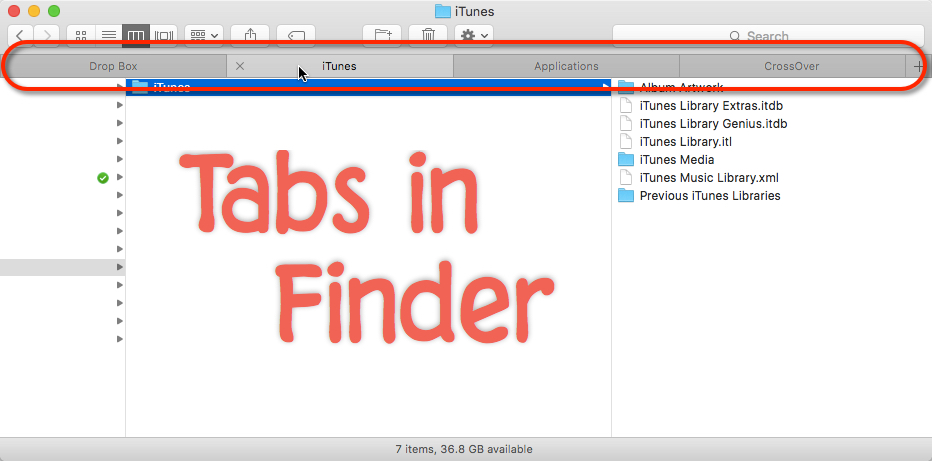 I use Tabs in Finder because I like Tabs in Safari