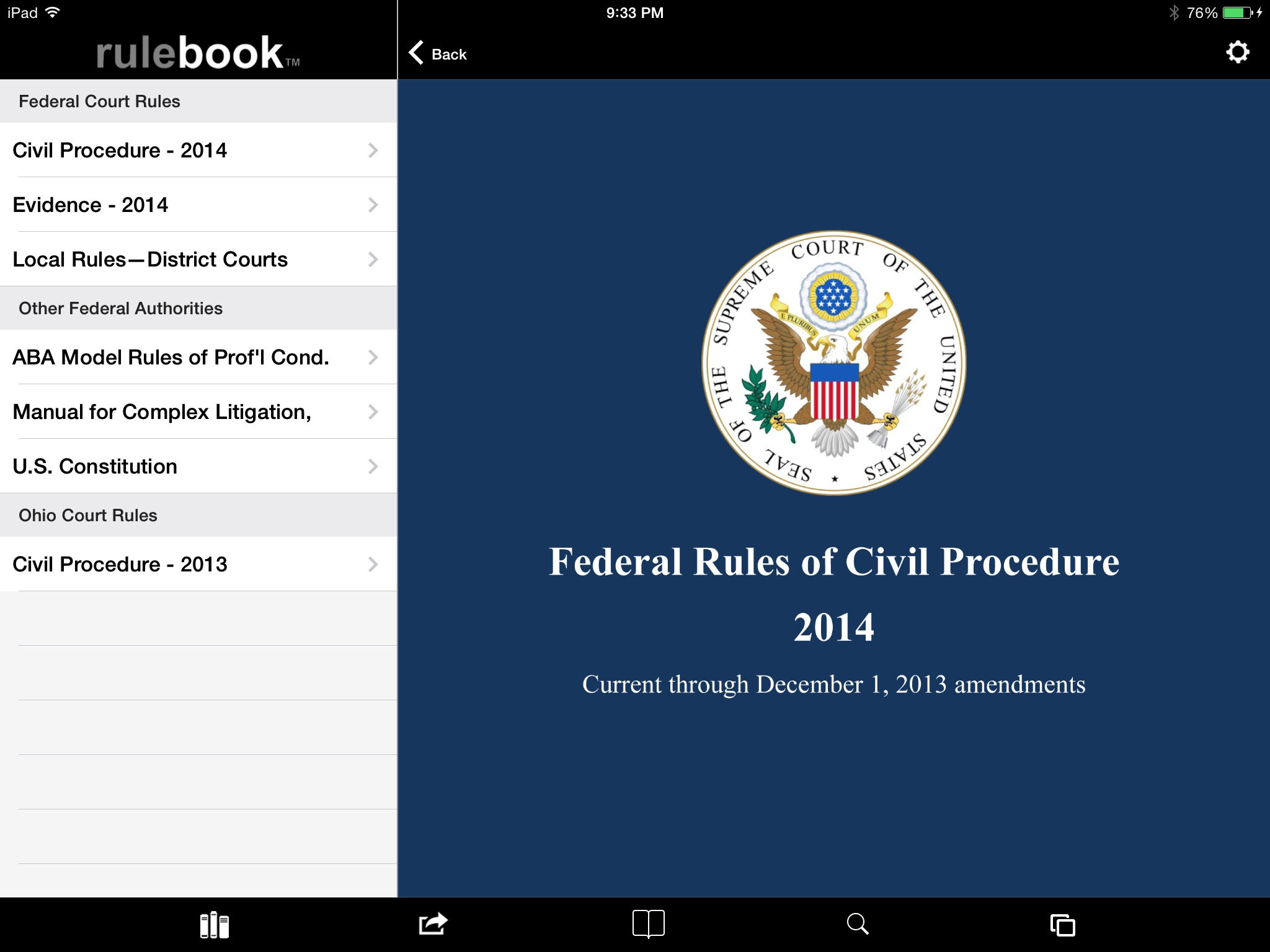 """iPad App Review: """"Rulebook App Can Replace Your Rule Books"""
